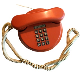 1970s Space Age Orange Telephone
