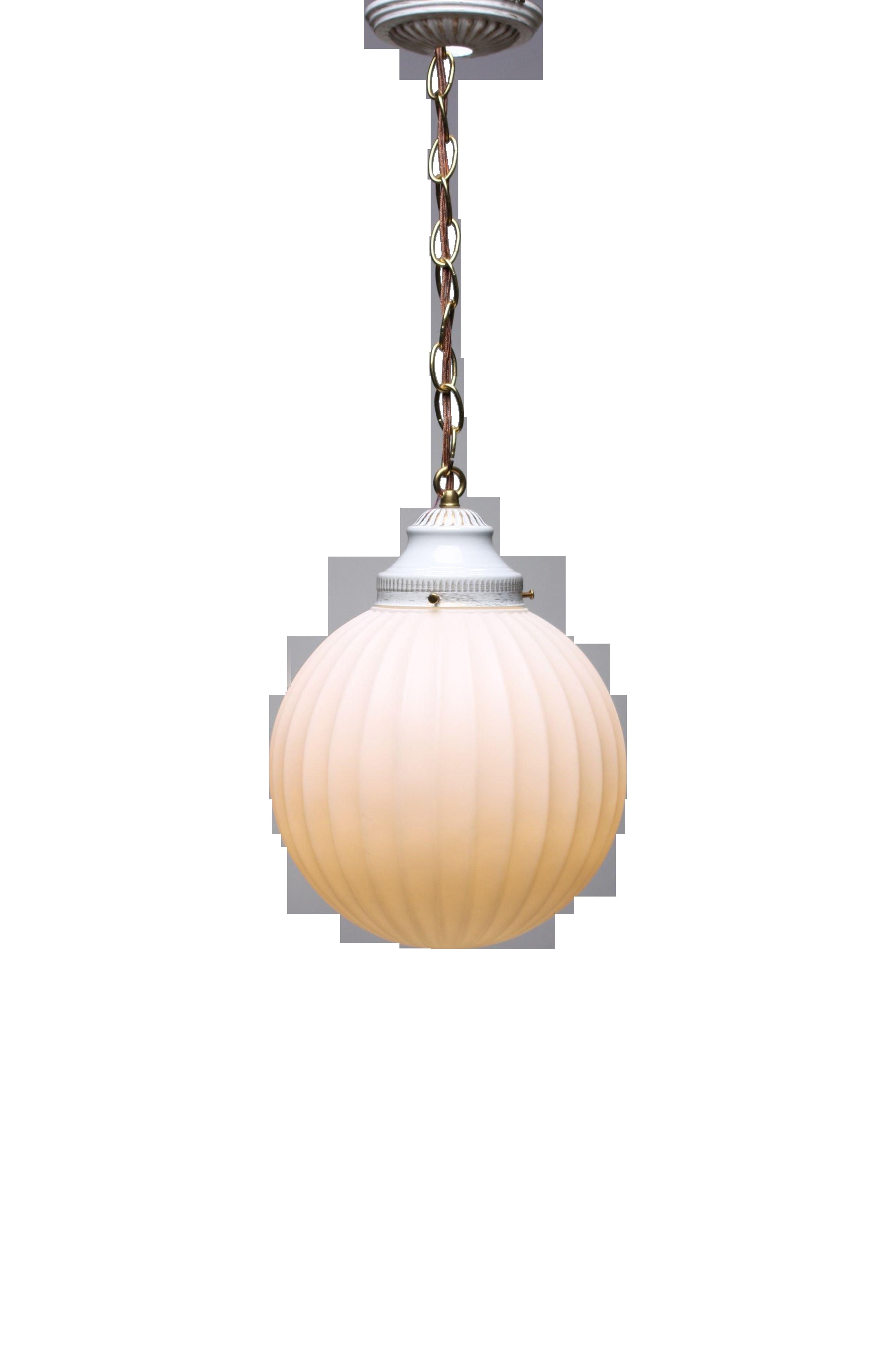 1970s virden opaque white globe pendant light chairish