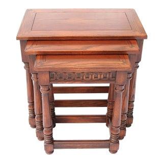 Vintage Romweber Oak Nesting Tables - Set of 3