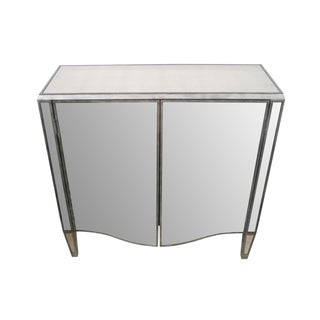 Mirrored Cabinet Console Tables - Pair