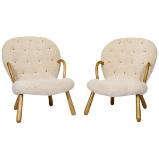 "Pair of Philip Arctander ""Clam"" Chairs"