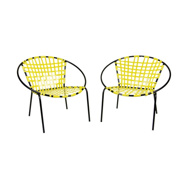 Mid-Century Patio Hoop Chairs - A Pair - Image 1 of 5