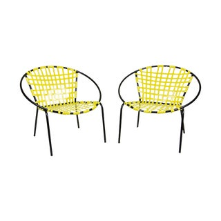 Mid-Century Patio Hoop Chairs - A Pair