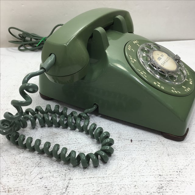 Moss Green Rotary Dial Telephone - Image 3 of 9