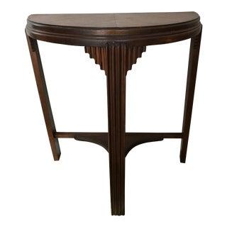 Art Deco Demilune Console Table