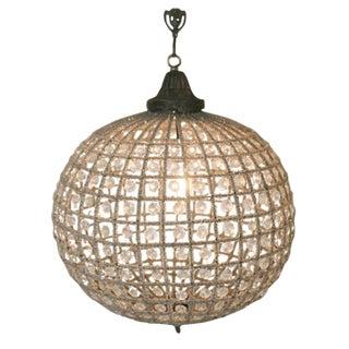 French Beaded Globe Chandelier