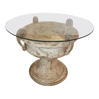 Italian Carved Wood Urn Table Base