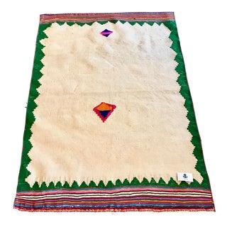 Vintage Persian Flat Weave Sofreh - 3′8″ × 4′10″
