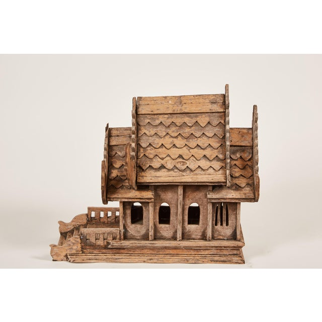 "20th Century Teak Spirit House of the Buddhist Temple ""Vihara"" in Thailand - Image 4 of 8"