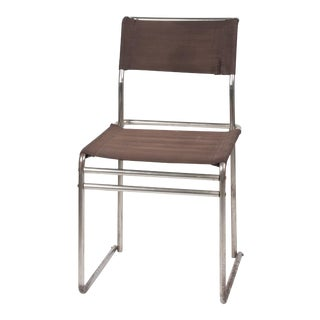 René Herbst Style Tubular Metal Side Chair, French, circa 1930