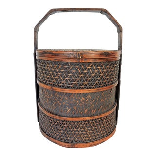 Woven Split Bamboo Chinese Basket