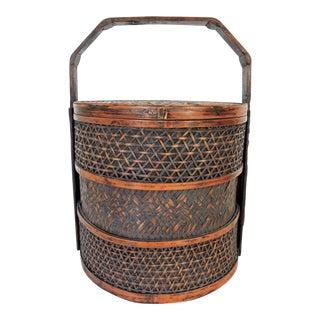Woven Split Bamboo Chinese Basket