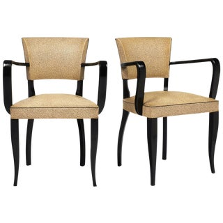 French Art Deco Period Bridge Chairs- A Pair