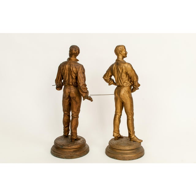 Antique French Charles Masse Fencing Figures - Two - Image 5 of 7