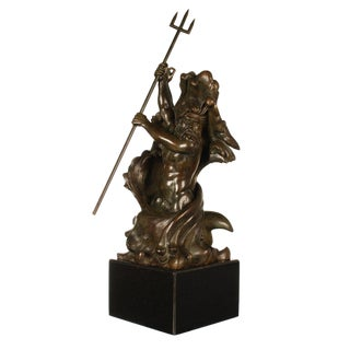 Poseidon and Triton Bronze Sculpture by Frederick Johnson