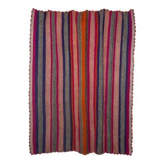 Vintage Peruvian Frazada Wool Rug