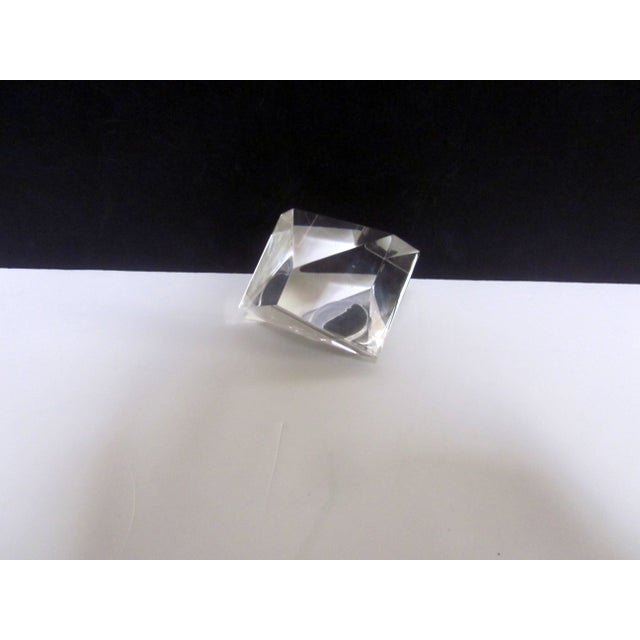 Image of Sculptural Lucite Modernist Paperweight