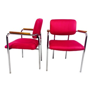 Fuchsia Pink Office Chairs - A Pair