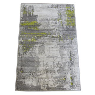 "Modern Green Abstract Rug - 6'7""x10'"