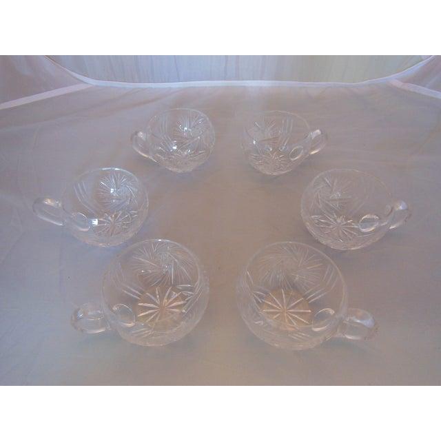 Vintage Crystal Lidded Punch Bowl Set - Set of 7 - Image 6 of 7