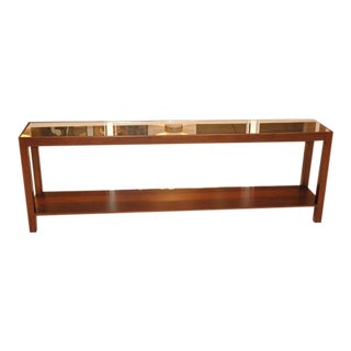 Walnut And Mirrored Top LF Console