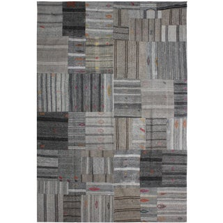 "Hand Knotted Patchwork Kilim by Aara Rugs Inc. - 11'4"" x 8'9"""