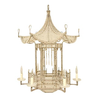 Circa 1940s Bagues Style Pagoda Chandelier