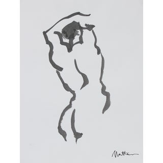 Minimal Monochromatic Ink Figure, Late 20th Century