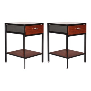 George Nelson Steel-Framed Night Tables Model - a Pair