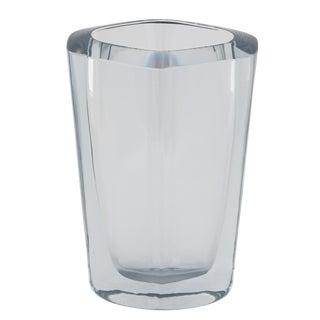 DIAMOND-SHAPED STROMBERGSHYTTAN GLASS VASE, CIRCA 1950S