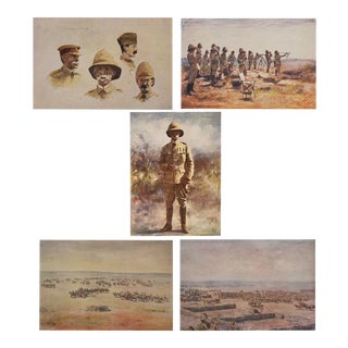 1901 Lithographs of Lord Roberts at Osfontein - Set of 5