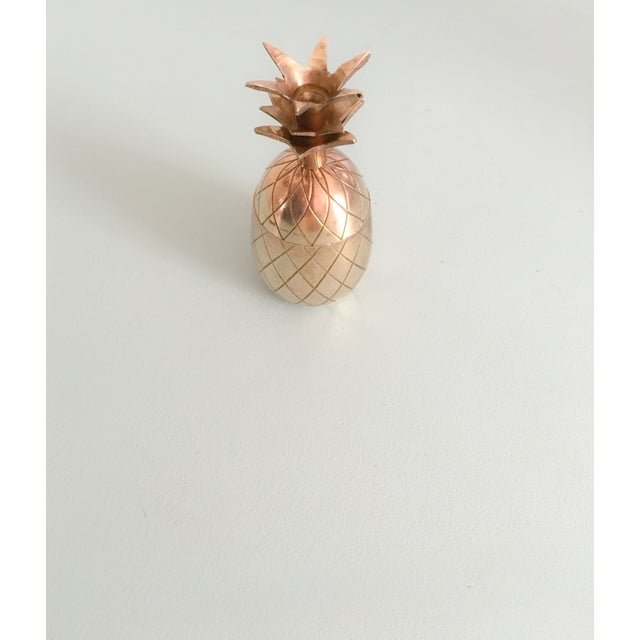 """Image of 4.5"""" Petite Brass Pineapple Container"""