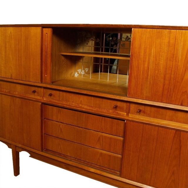 Rare Danish Modern Teak Highboard / Bar Cabinet - Image 2 of 9