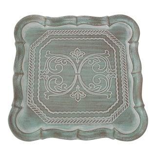 Mint Florentine Scrollwork Tray
