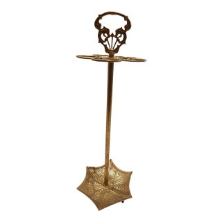 Vintage Brass Umbrella Shaped Stand