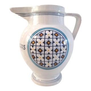 Italian Ceramic in Aqua Salus Pitcher