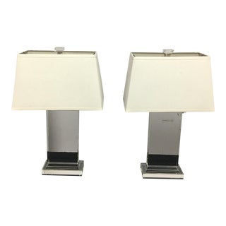Restoration Hardware Crystal Pier Table Lamps - A Pair