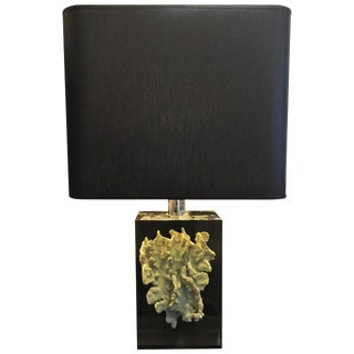 Coral Specimen in Lucite Table Lamp
