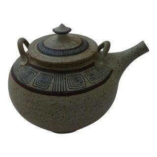 Mid-Century Modern Studio Art Pottery Teapot