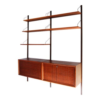 Poul Cadovius for Royal System Danish Two Bay Wall Unit