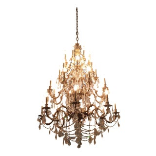 Rosetta Collection French Aged Bronze Chandelier