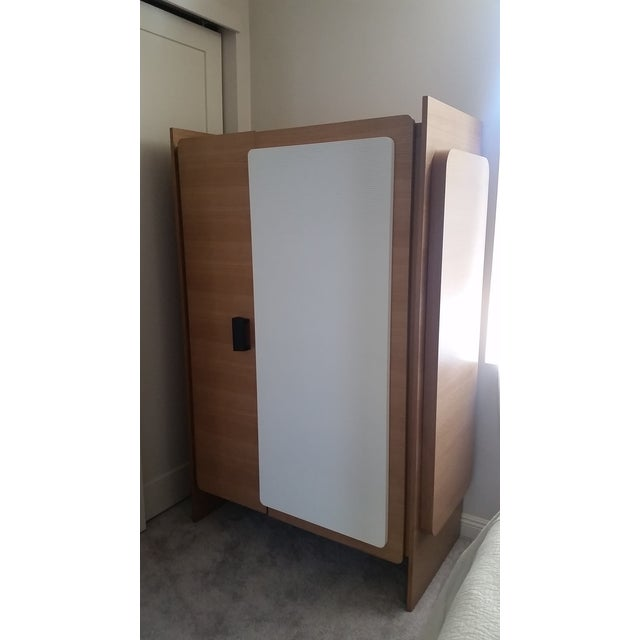Modern Custom Designed Lacquered Wood Armoire - Image 5 of 5
