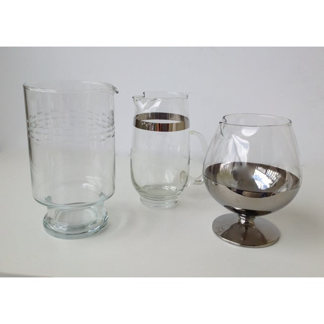 Assorted Glass & Silver Cocktail Mixers - Set of 3 - Image 3 of 10
