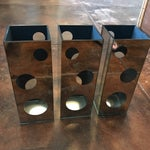 Image of Mirrored Circular Cut-Out Vases - Set of 3