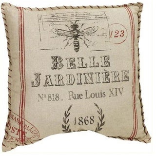 Distressed French Farmhouse Accent Pillow