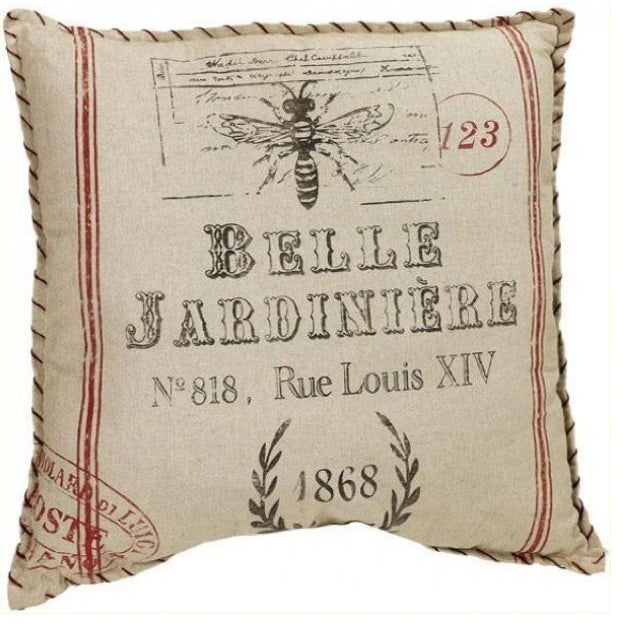 Distressed French Farmhouse Accent Pillow - Image 1 of 2