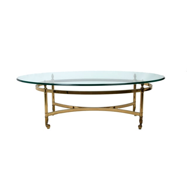 Decorative French Glass & Brass Table - Image 8 of 10