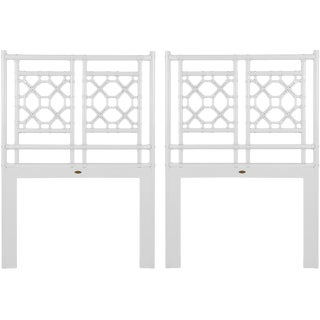 David Francis Chippendale Lattice Headboard Set - a Pair