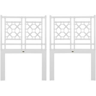 David Francis Furniture Lattice Open-Frame Twin Headboard Set - a Pair