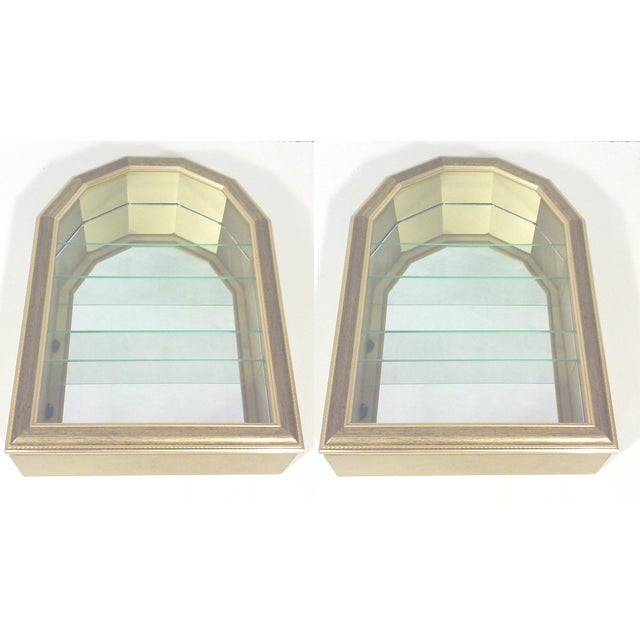 Image of Gold Arch Wall Curios - Pair